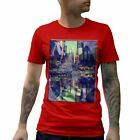 A888B Mens T-Shirt NY Tee Art New York City Summer Fashion Taxi Abstract Hipster