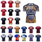 Men Gym T Shirt Compression Top Superhero Avengers Marvel Muscle Spiderman Shirt $8.99 USD on eBay