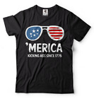 4th of July T-shirt USA kicking ass since 1776 Independence Day Shirt America T image