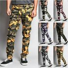 Mens Twill Jogger print Pants Camouflage **Army Fatigue** Leopard !! Big Sizes !