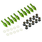 10Pcs M5 Spike Motorcycle Fairing Windscreen Bolts Kits Windshield Screws Washer