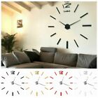 Novelty Home 3D DIY Sticker Wall Clock Living Room Bedroom Dining Office Large