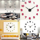 DIY 3D Mirror Modern Large Wall Clock Surface Sticker Home Office Decor Cool
