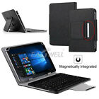 "For 7"" 8"" 10"" 10.1"" Tablets Black PU Leather Case Bluetooth Keyboard Stand Cover"