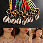 Women Bohemian Colorful Beads Choker Bib Necklace Shell Pendant Turquoise Chain