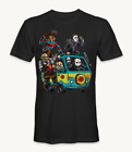 Michael Myers Jason voorheen Freddy Scooby doo scary faces villains t-shirt image