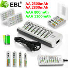 Kyпить Lot EBL AAA AA Ni-MH Rechargeable Batteries +8 Slot Smart Charger for Flashlight на еВаy.соm