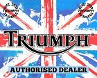 TRIUMPH AUTHORISED DEALER BRITISH MOTORCYCLE MOTORBIKE METAL SIGN PLAQUE 1725 €8.03 EUR on eBay