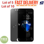 """Pack 5 10 Privacy Anti-Spy Tempered Glass Screen Protector 5.5"""" iPhone 7 8 Plus"""