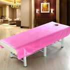 Cosmetic Massage Table Flat Sheet Cover with Face Hole for Beauty Face Beds image