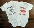Daddy's Pit Crew Baby Onesies- multiple manufacturers available $9.99 USD on eBay