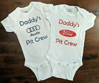Daddy's Pit Crew Baby Onesies- multiple manufacturers available $10.49 USD on eBay