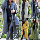 Womens Long Sleeve Knitted Cardigan Sweater Casual Outwear Coat Jackets US