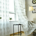 Baroque Lace Voile Curtain Fabric Pelmet Cutwork Floral Net Window Drape Country for sale  Shipping to Canada