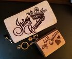 JUICY Organizer Wallet + Change Purse w/Key Ring 2 Pcs Pink Brown Lthr NO RESERV