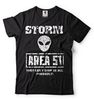 Area 51 T-shirt Alien Attack Raid T-shirt They Can't stop all of US tee Shirt