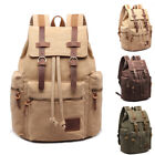 Outdoor Vintage Canvas School Bags Backpacks Outdoor Army Travel Present Gift
