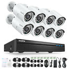 SANNCE 8CH 5MP NVR HD 1080P POE Security IP Camera System Audio Recording Onvif
