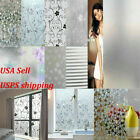 Kyпить Waterproof Frosted Privacy Window Lot Glass Cling Cover Film Home PVC Sticker US на еВаy.соm