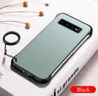 Matte clear Rimless hard case with ring For Huawei M/H/P10 20 30 Samsung S10/+