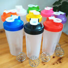 400/600ml BPAfree Shake Blender Shaker Mixer Cup Drink Whisk Ball Bottle New US