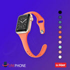 38 40 42 44 Sports Silicone Bracelet Strap Band Slim Apple Watch Se 6 5 4 3 2 1