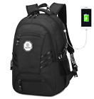 Men Women 15.6 inch Business Laptop USB Charging Backpack Waterproof School Bag
