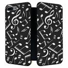 iPhone 7 PLUS Full Flip Wallet Case Cover Music Note Pattern - S3753