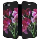 iPhone 7 PLUS Full Flip Wallet Case Cover Sweet Pea Flower - S3313