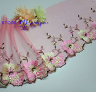 76cm Flower Embroidery Tulle Lace Trim Ribbon Dess Sewing Craft Decorate Doll
