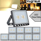 10X 10W Ultra-thin LED Flood Light Outdoor Security Lamp Warm White Waterproof