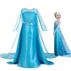Girls Frozen Elsa Dress Princess Party Dresses Xmas Cosplay Costumes Outfit