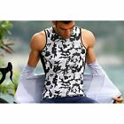 CAMU Tank Cycling Sleeveless Base Layer - Camouflage White/Black/Grey