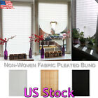 US Temporary Blackout Window Curtain Shade Pleated Blinds Home Bathroom Kitchen, used for sale  USA