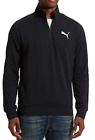 Men's PUMA Stretchlite 1/4 Zip Long Sleeve Golf Shirt Pull-Over/Sweatshirt Black