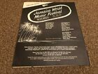 "(RSMBK04) ADVERT/POSTER 12X10"" 1982 JAMICA WORLD MUSIC FESTIVAL GRATEFUL DEAD"