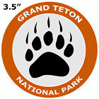 Grand Teton National Park Bear Claw Logo Car Truck Window Sticker Decal Souvenir