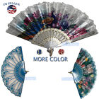 Kyпить Wedding Party Lace Silk Folding Hand Fan Chinese Style Floral Flower Home Decor1 на еВаy.соm