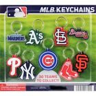 MLB BASEBALL TEAM DECAL LOGO SOFT PVC KEYRING KEYCHAIN 30 TEAMS WORLD SERIES KEY
