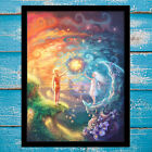 Canvas Art HD Print Painting Love The Sun and The Moon Home Decoration 16x20