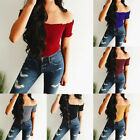 Women Summer Casual Off Shoulder Tank Top Vest Blouse Sleeveless Crop Tops Shirt
