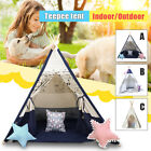 Large Kid Play Tent Teepee Children Playhouse Home Canvas Pretend Play Outdoor