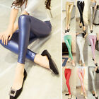 Sexy Skinny Slim Stretchy Fit Pull On Faux Leather Leggings Tight Bandage