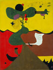Art Print Oil Famous Painting Joan Miró Portrait of Mistress Mills in 1750