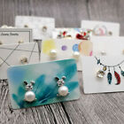100pcs Jewelry Earring Display Organizer Holder Show Package Hang Tag Card 3 5cm