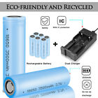 3500mah 18650 Rechargeable 3.7v High Drain Flat Top Rc Battery / Case / Charger