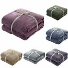 Flannel Blanket Soft Warm Faux Fur Throw Fleece Blanket Mink Sofa Bed Luxu#awg image