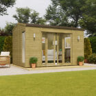 Pressure Treated Cannes Wooden Garden Summerhouse Sunroom With French Door 8ft