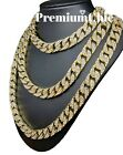 ICED Miami Cuban Choker Chain Necklace Hip Hop Mens Gold Silver 14mm 16  - 30