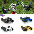 1 Pair Bicycle Handlebar Grips Double Lock On Mountain Bike Handle Bar Ends USA